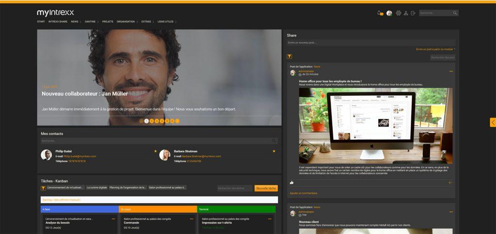 Votre logiciel d'Intranet social d'Intrexx